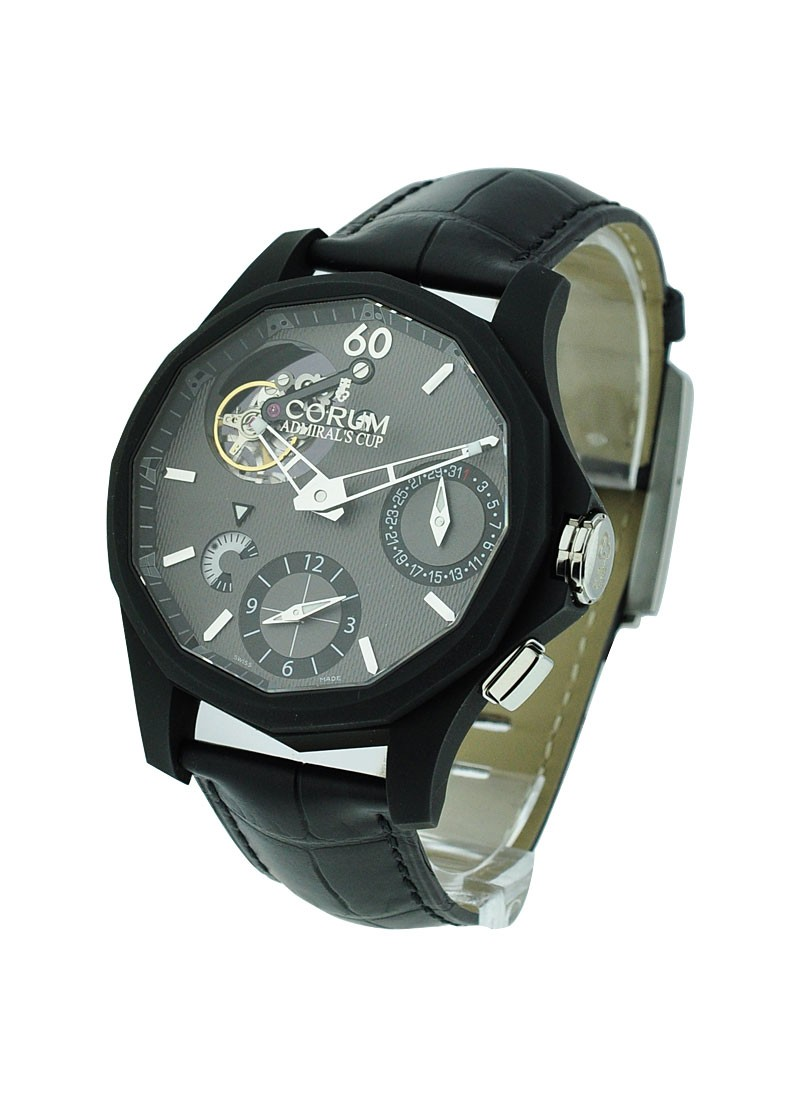 Corum Admirals Cup Seafender 47 Tourbillon GMT in Black Aluminum