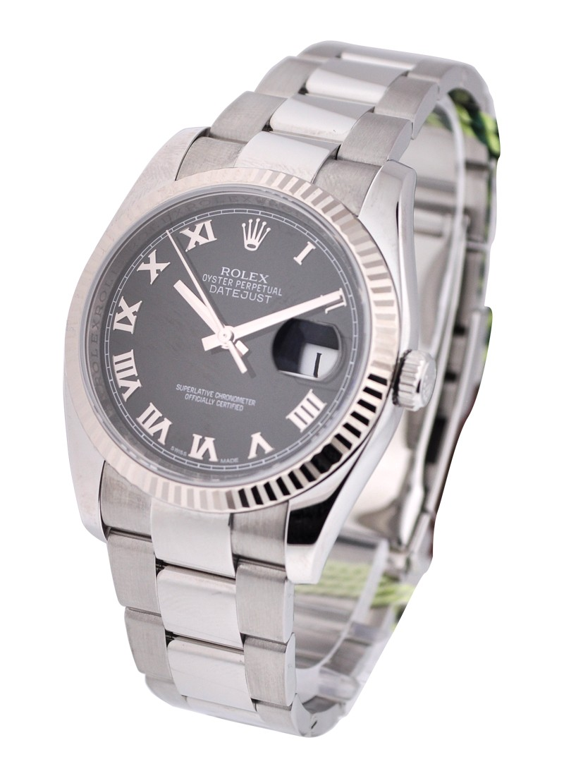 Rolex Unworn Men's Datejust 36mm with White Gold Fluted Bezel