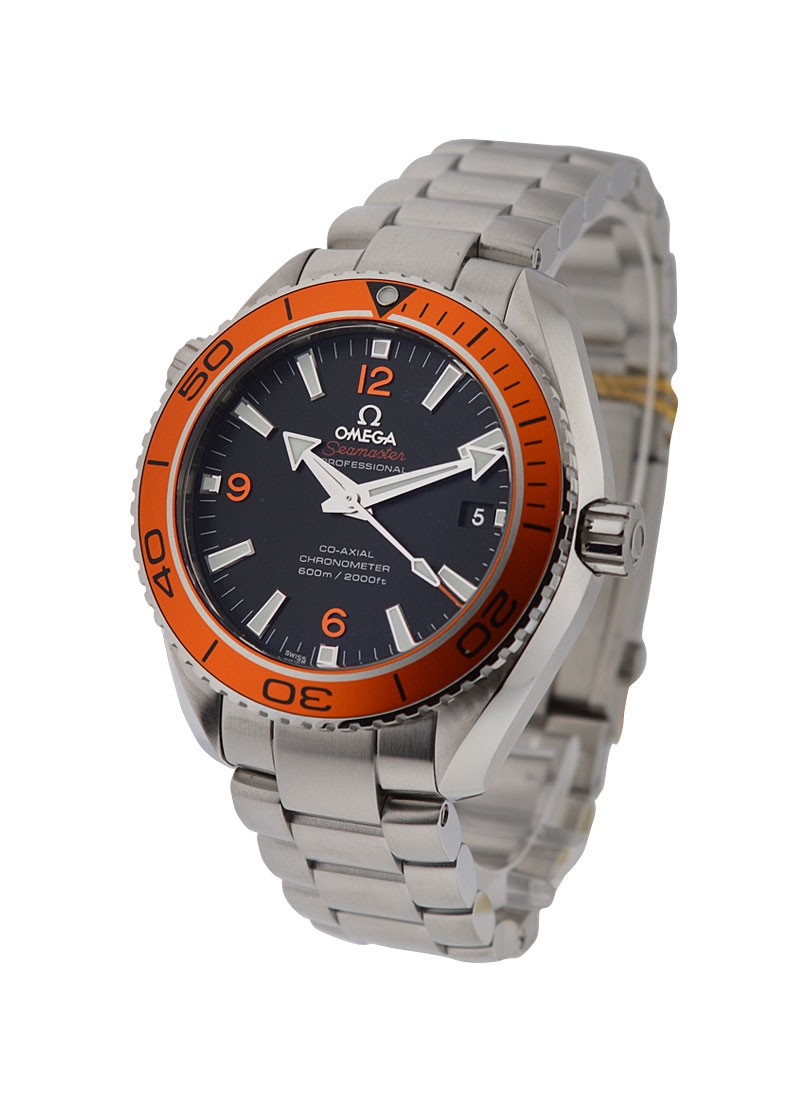 Omega Seamaster Planet Ocean 600M in Steel with Orange Bezel