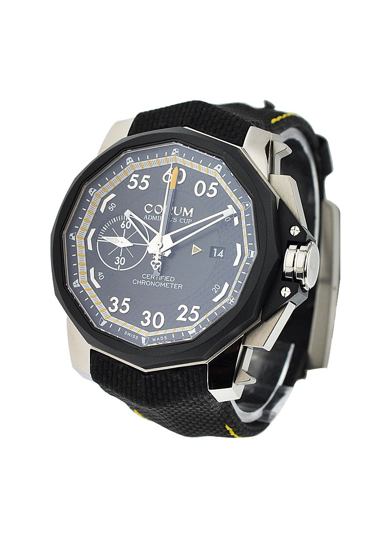 Corum Admirals Cup Seafender 48 Chrono Centro in Titanium with Rubber Bezel