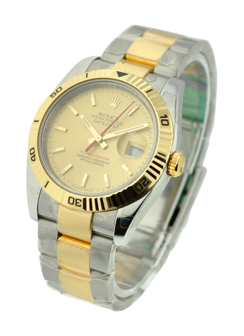 Rolex Unworn  Men's 2 Tone Turn O Graph Datejust