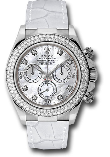 Rolex Unworn Daytona Oyster Perpetual in White Gold with Diamond Bezel