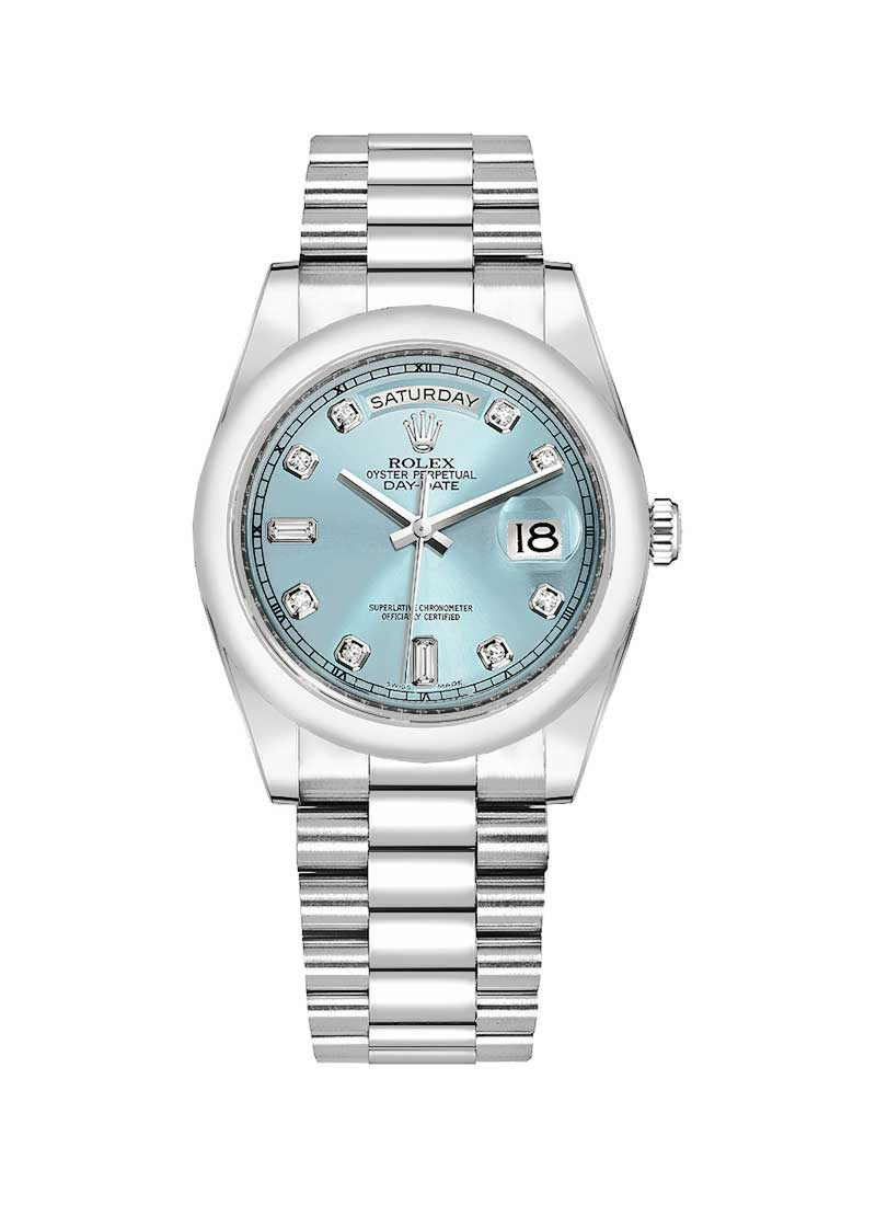 Rolex Unworn President Day Date 36mm in Platinum with Smooth Bezel