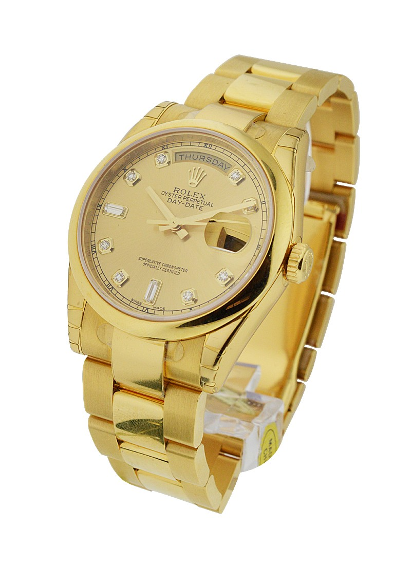 Rolex Unworn Day Date  36mm President in Yellow Gold
