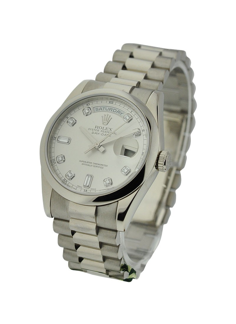 Rolex Unworn Men's Day - Date President in White Gold with Domed Bezel