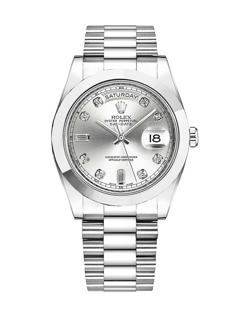 Rolex Unworn Day Date 40mm Automatic in Platinum with Smooth Bezel
