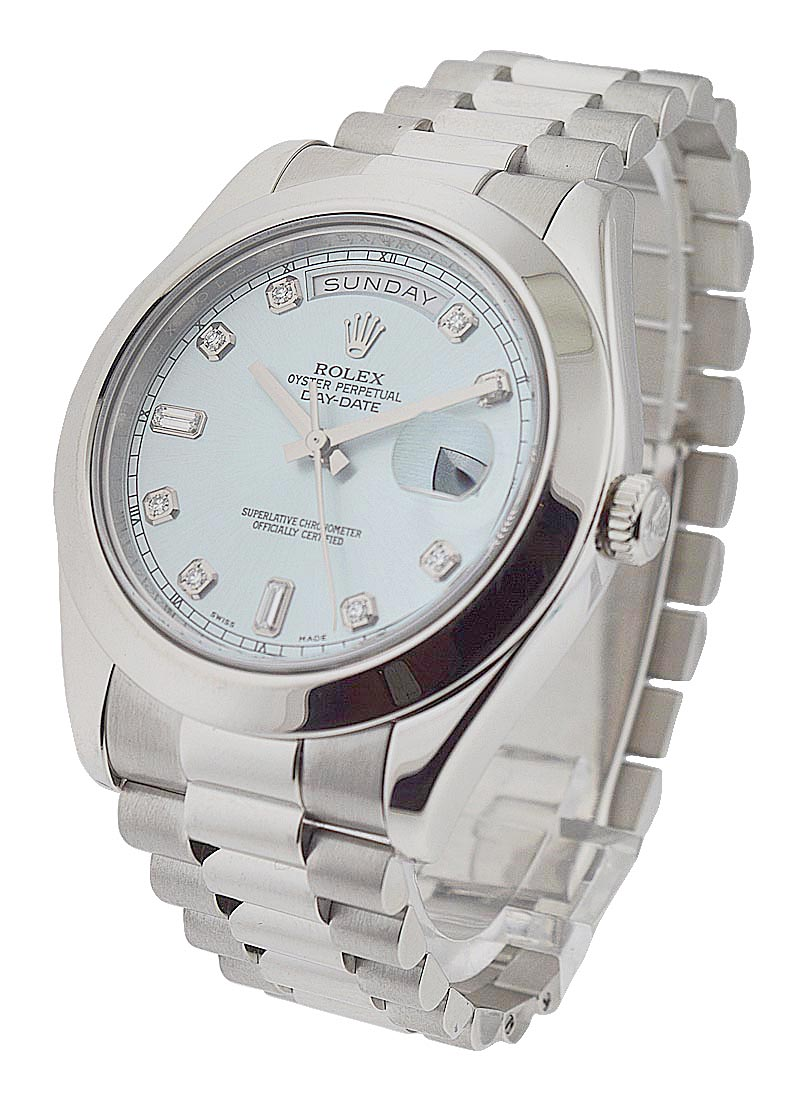Pre-Owned Rolex Day Date II - President - Platinum - Smooth Bezel - 41mm