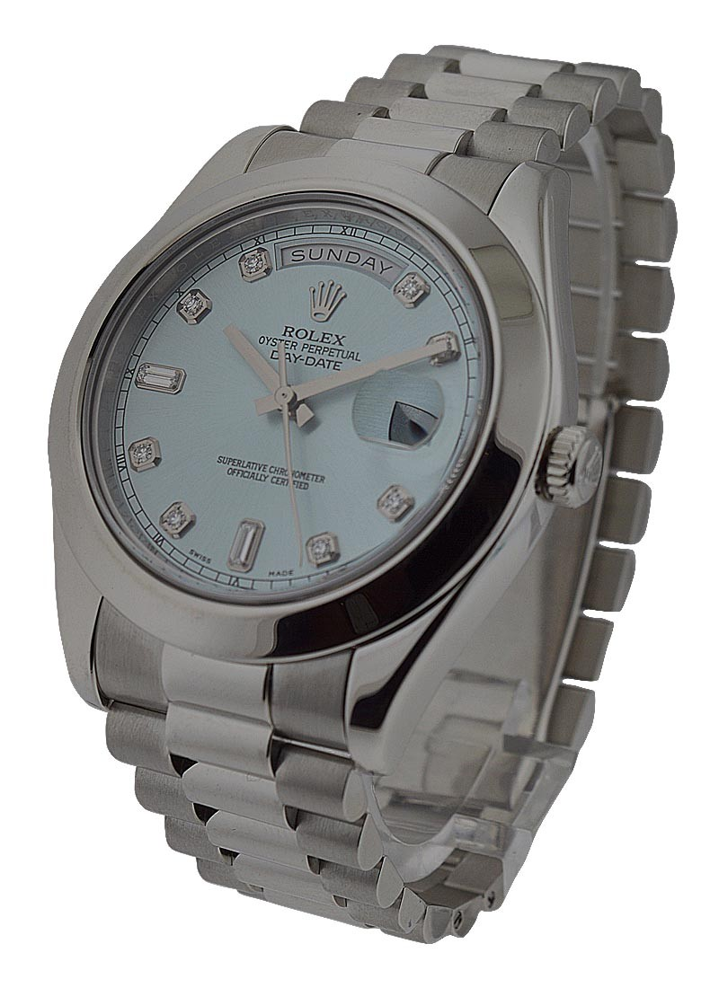 Rolex Used Day Date II President in Platinum   Polished Bezel