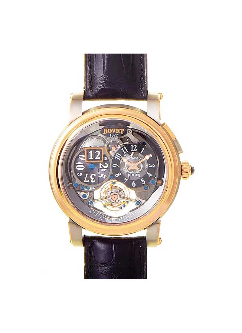 Bovet Dimier Recital 5 46 Tourbillon and Big Date in Rose Gold