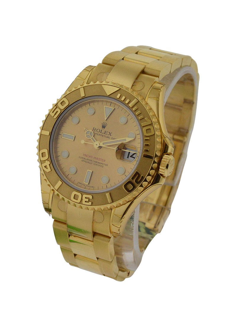 Rolex Unworn Yachtmaster in Yellow Gold   Mid Size   Ref 168628