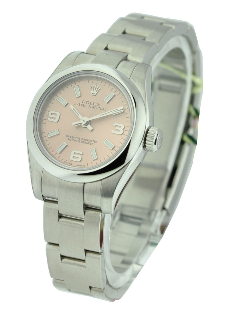 Rolex Unworn Oyster Perpetual No Date in Seel with Smooth Bezel