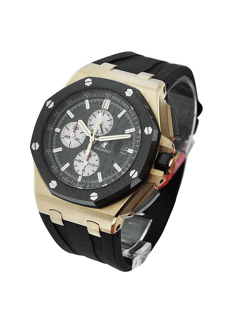 Audemars Piguet Royal Oak Offshore in Rose Gold with Black Ceramic Bezel