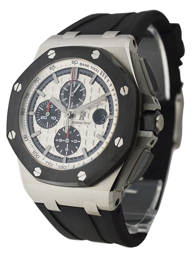 Audemars Piguet Royal Oak Offshore Chronograph in Steel with Black Ceramic Bezel