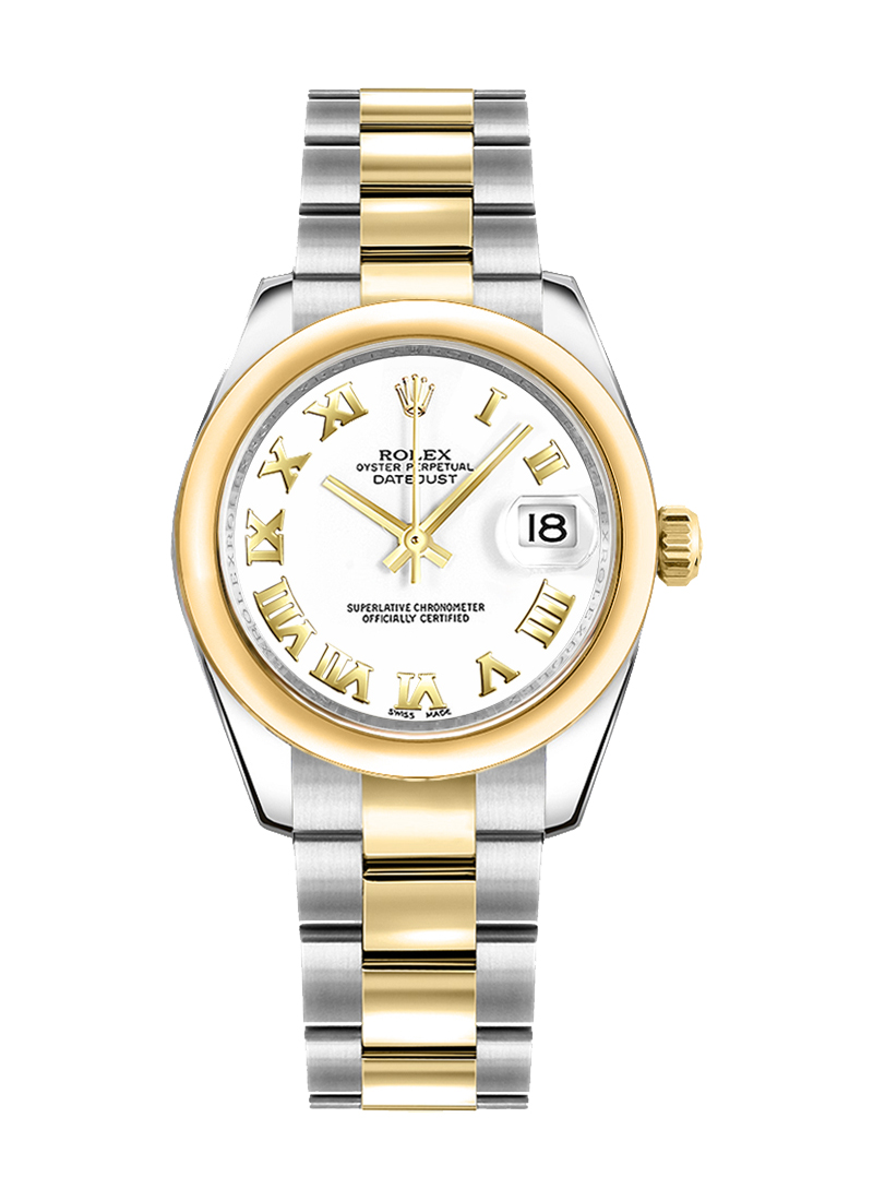 Rolex Unworn Datejust 31mm in Steel with Yellow Gold Smooth Bezel