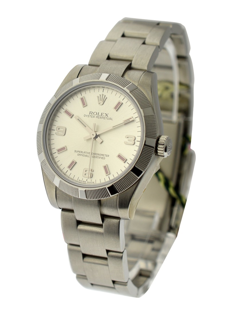 Rolex Unworn Oyster Perpetual 31mm Automatic in Steel with Engine Turn Bezel