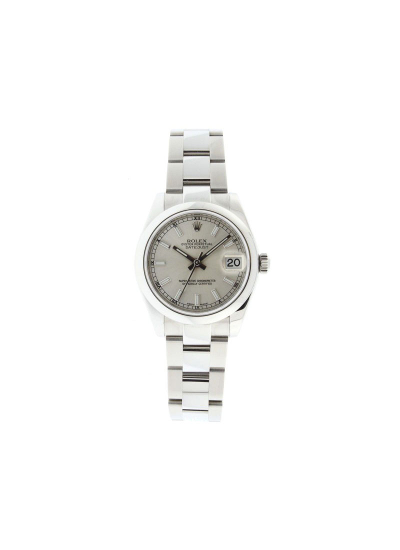 Rolex Used Mid Size Datejust 31mm in Steel with Smooth Bezel