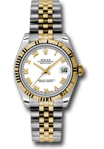 Rolex Unworn Datejust Midsize 2 Tone in Steel With Yellow Gold Fluted Bezel