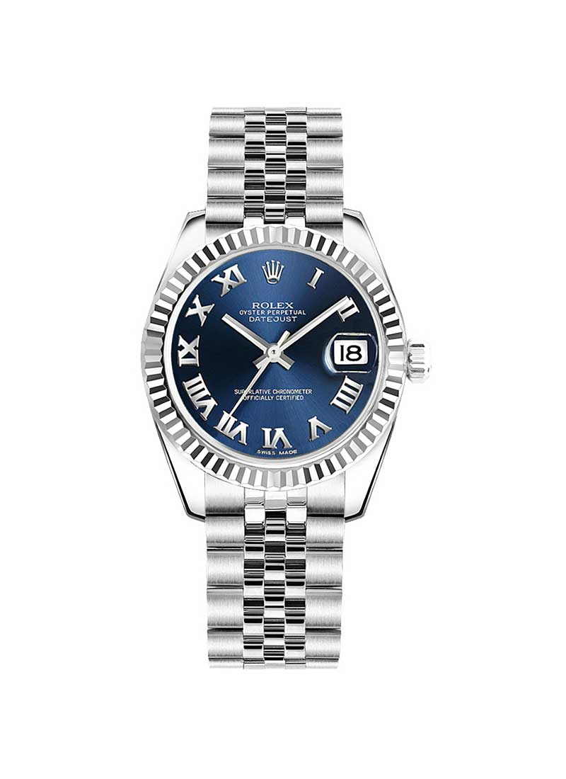 Rolex Unworn Mid Size Datejust 31mm in Steel with Fluted Bezel