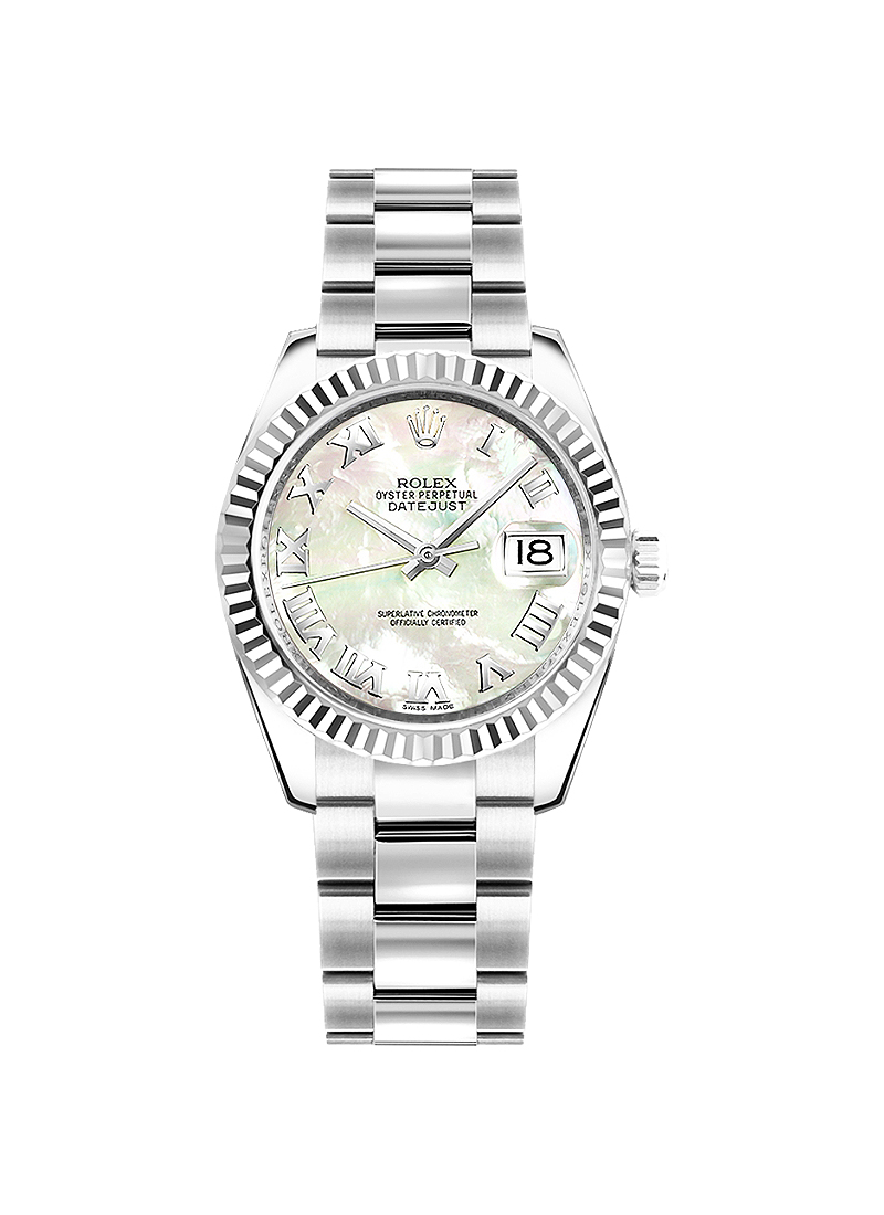 Rolex Unworn Datejust 31mm in Steel with Fluted Bezel