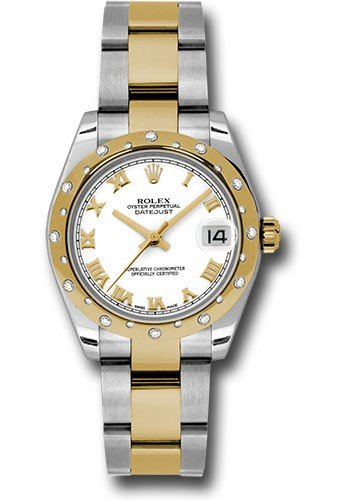 Rolex Unworn Datejust Two Tone with Diamond Domed Bezel