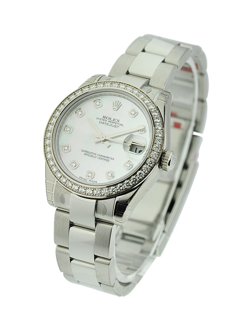 Rolex Unworn Datejust in Steel with Diamond Bezel