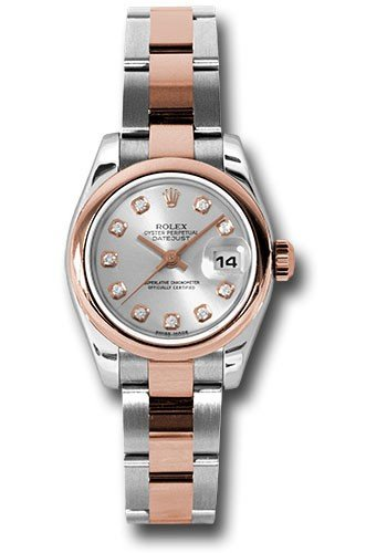 Rolex Unworn DateJust Lady in Steel with Rose Gold Smooth Bezel
