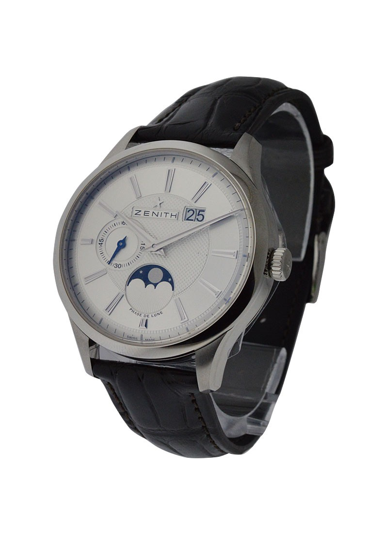Zenith Captain Elite Moonphase in Steel