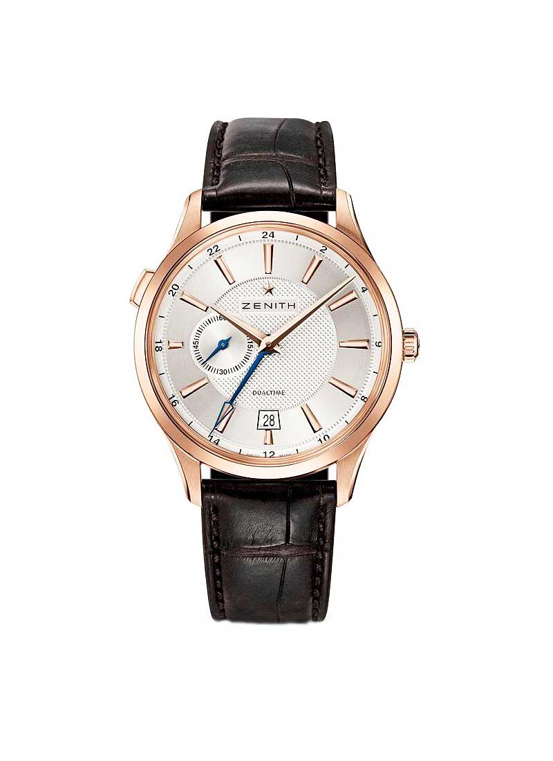 Zenith Captain Dual Time in Rose Gold