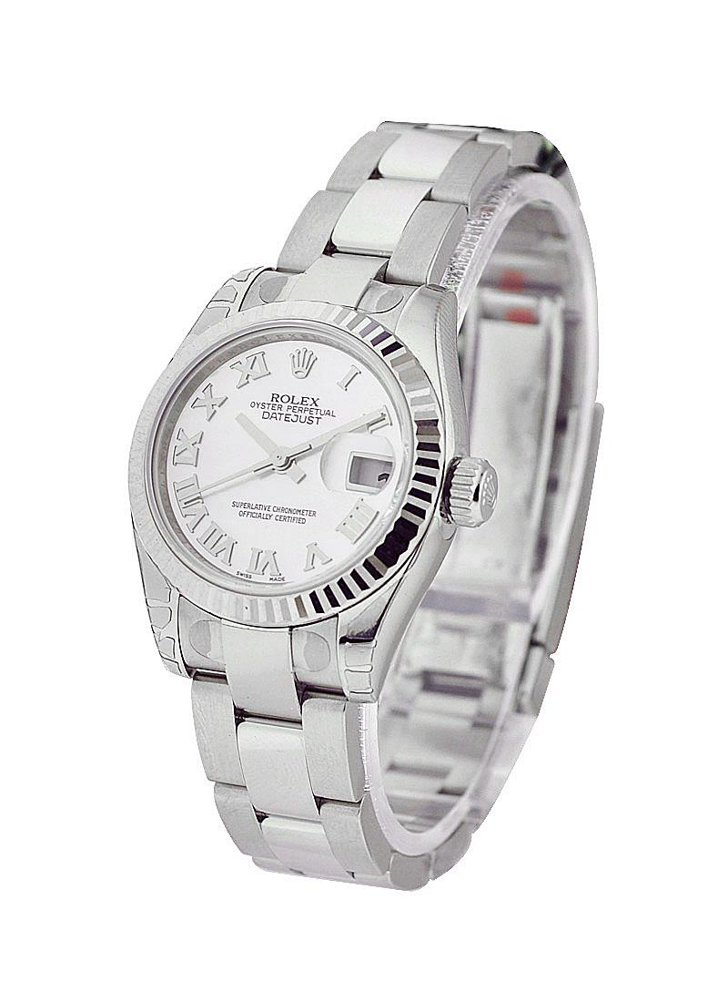 Rolex Unworn Datejust Ladies 26mm in Steel with White Gold Bezel