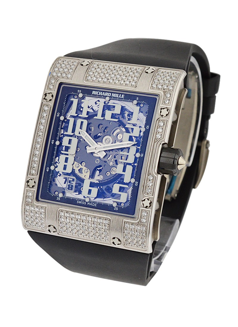 Richard Mille RM016 Ultra Flat in White Gold with Diamond Bezel