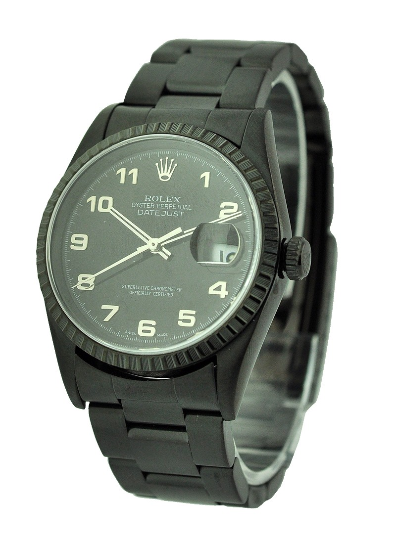 Pre-Owned Rolex Datejust - 36mm - Black PVD - Steel