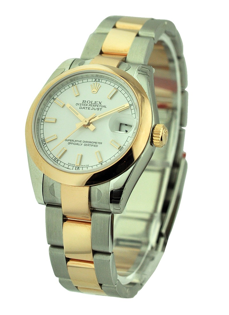 Rolex Unworn Datejust in Steel with Yellow Gold Domed Bezel
