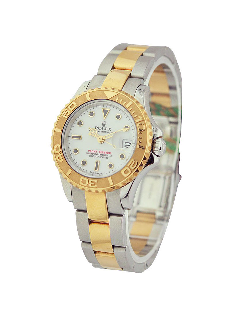 Pre-Owned Rolex Yacht-Master 29mm in Steel with Yellow Gold Bezel