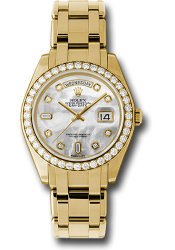 Rolex Unworn Masterpiece Mens Day Date in Yellow Gold with Diamond Bezel