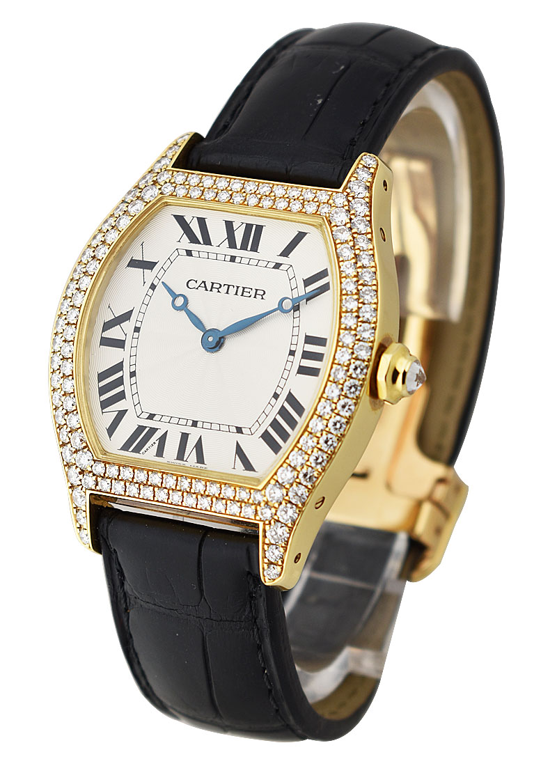 Cartier Tortue in Yellow Gold with Diamond Bezel