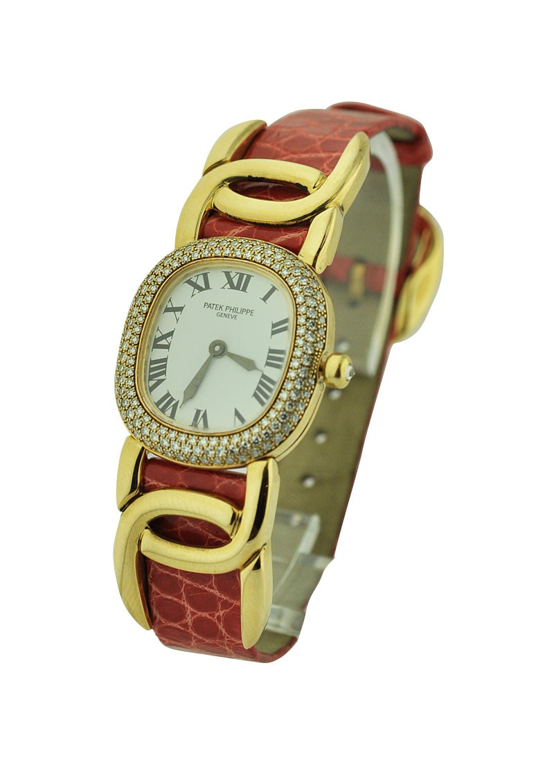 Patek Philippe Lady's Golden Ellipse with Diamond Bezel