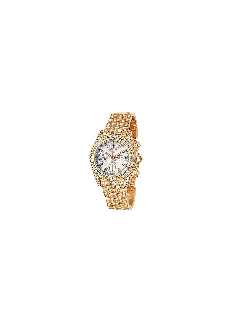Breitling Chronomat Evolution Men's in RG with Diamond Bezel