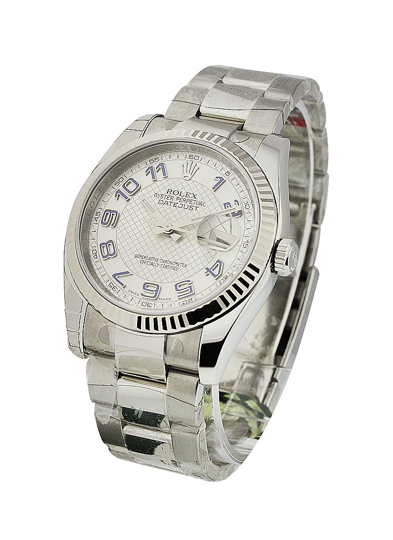 Rolex Unworn Datejust 36mm in Steel and White Gold with Fluted Bezel
