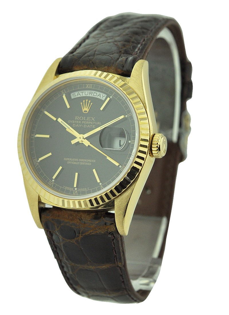 Pre-Owned Rolex Day-Date - Yellow Gold - 36mm - Fluted Bezel