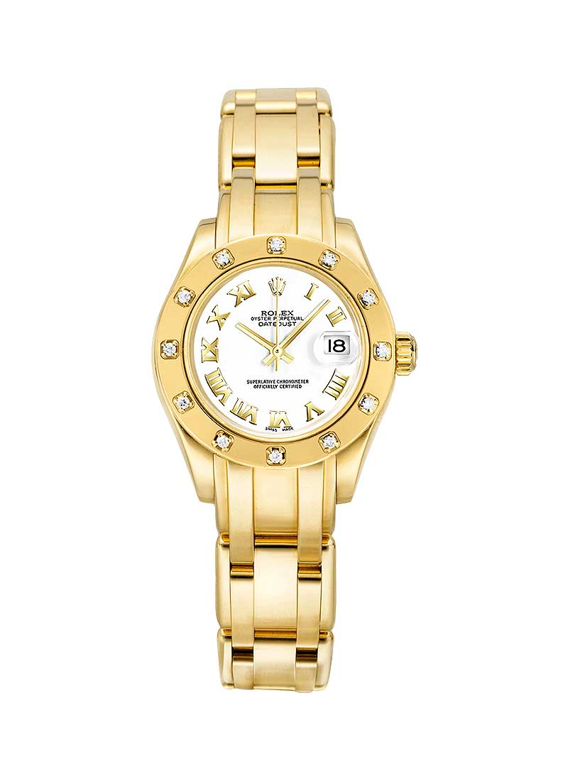 Rolex Unworn Masterpiece 29mm in Yellow Gold with 12 Diamond Bezel