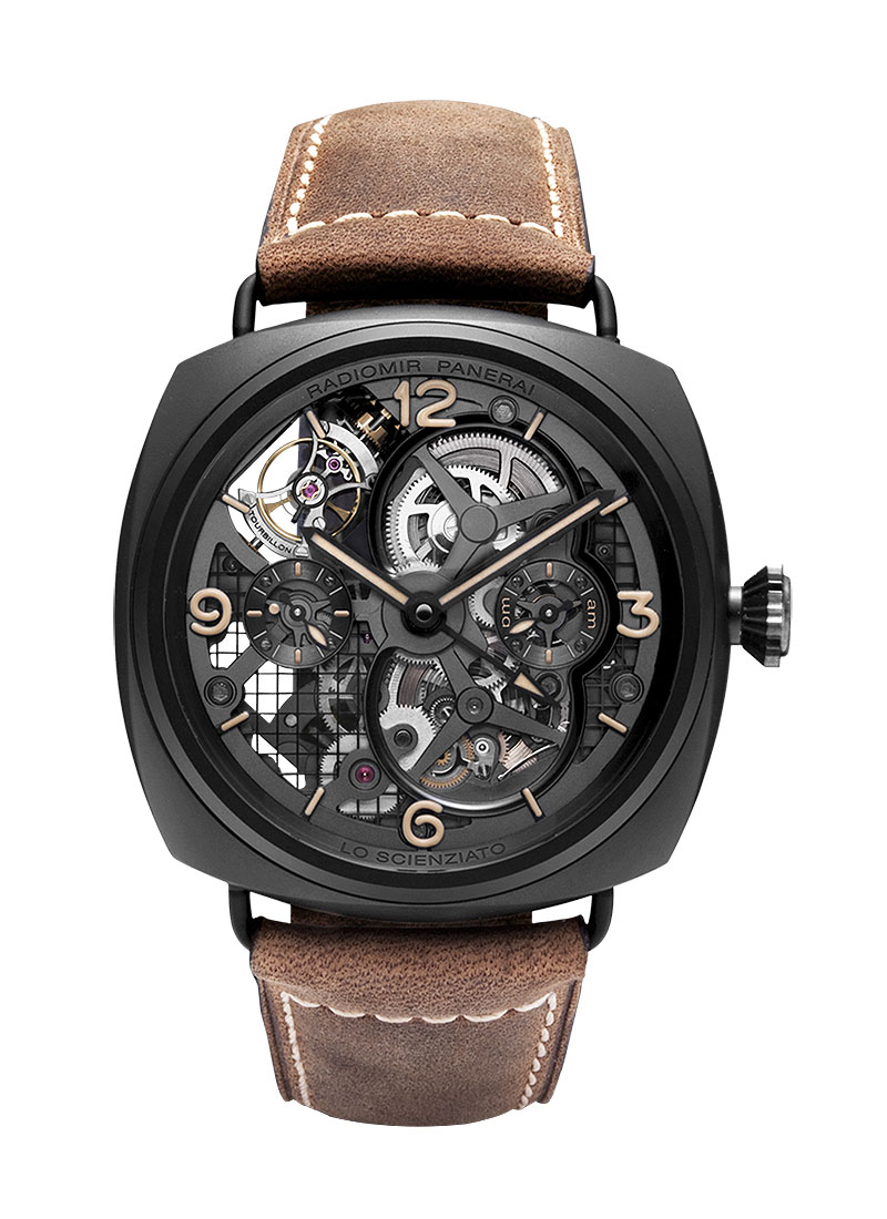 Panerai PAM 350 - Radiomir Tourbillon GMT in Black Ceramic