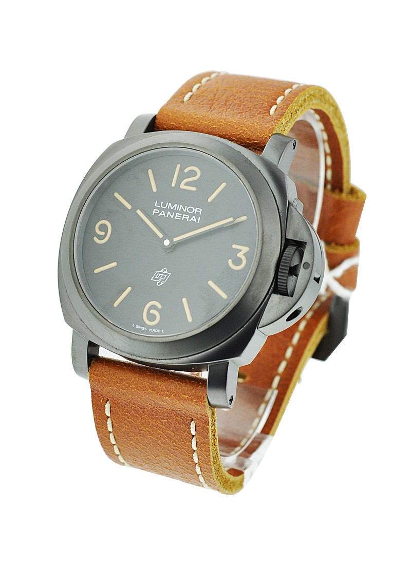 Panerai PAM 360   Luminor Base Logo PVD Paneristi in Black PVD Coated Steel