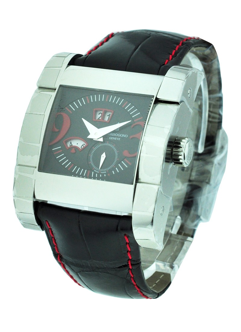 de Grisogono Instrumento Novantatre with Black and Red Dial