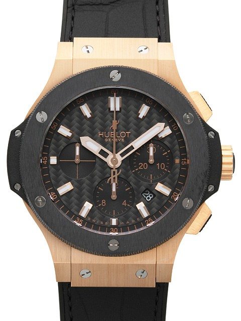 Hublot Big Bang 44mm in Rose Gold Black Ceramic