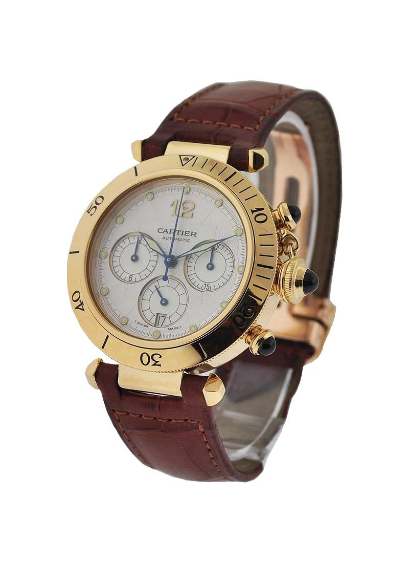 Cartier Pasha 38mm Yellow Gold Chrono