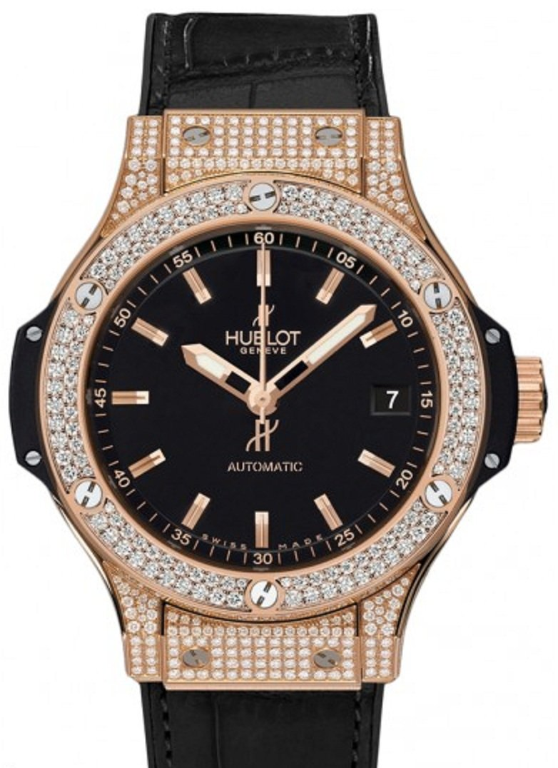 Hublot Big Bang Automatic 38mm in Rose Gold with Diamond Bezel