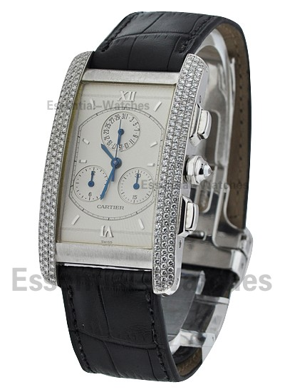 Cartier Tank Americaine - White Gold Chronograph Cronoflex
