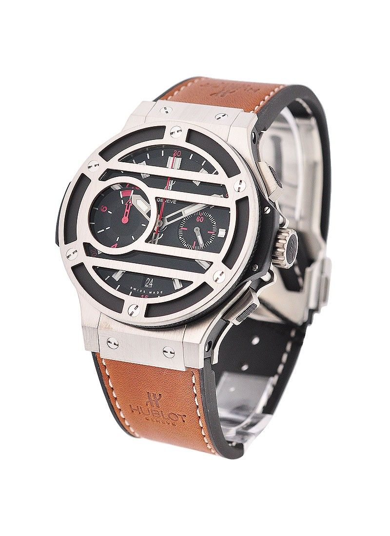 Hublot Chukker Bang - Facundo Pieres Limited Edition in Steel with Titanium Grill