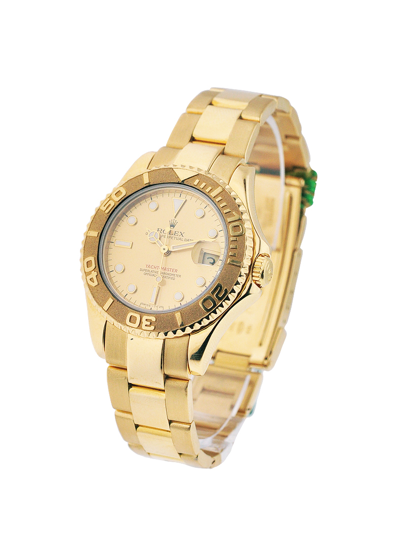 Pre-Owned Rolex Yacht-Master Mid Size in Yellow Gold
