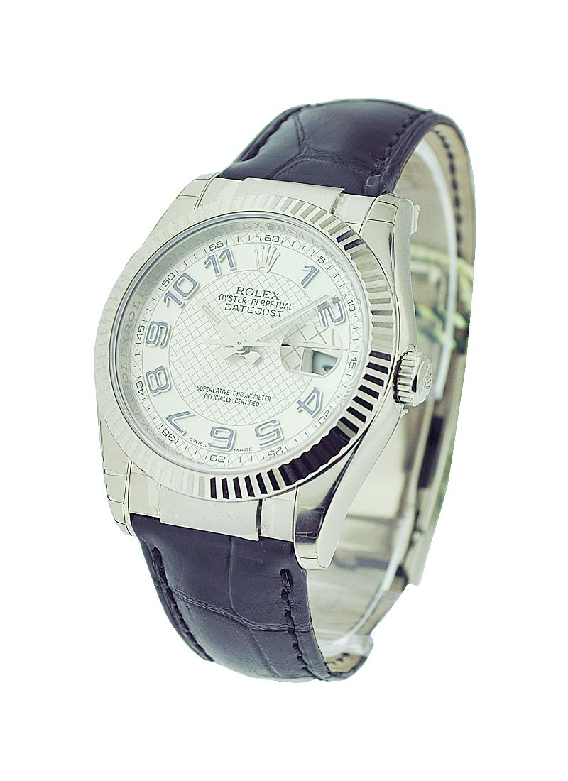 Rolex Unworn Datejust in White Gold with Fluted Bezel